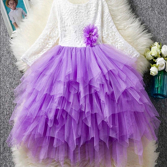 Other - 🎉🎉HOST PICK 7/4🎉🎉Purple/White Lace Tulle Dress